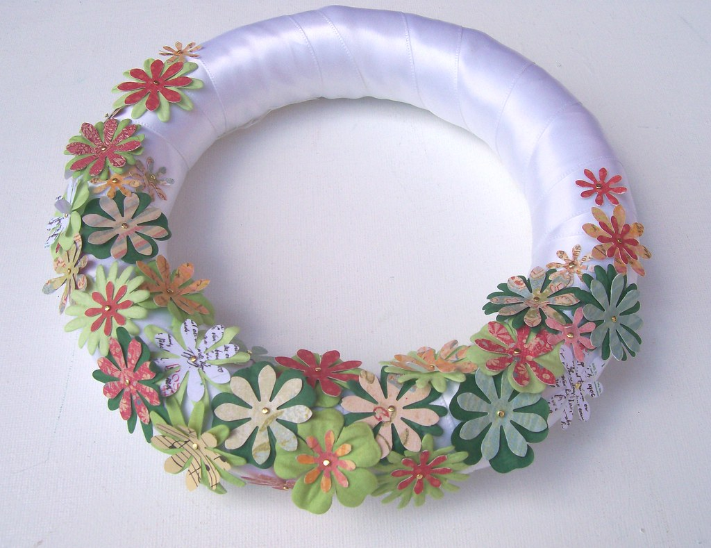 Another paper flower wreath
