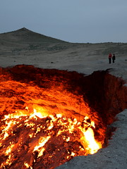 The Door to Hell (in the nighttime) / Turkmeni...