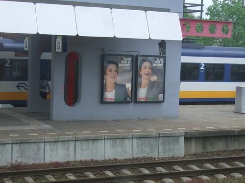 Femke Halsema op het station