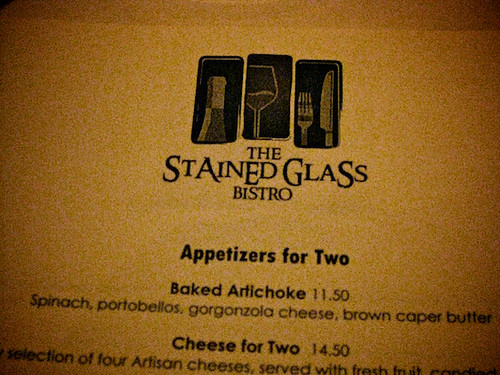 stained glass bistro