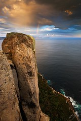 Cape Pillar rainbow (hillsee) Tags: light sea storm clouds rainbow vertigo cliffs tasmania tistheseason caperaoul tasmanpeninsular capepillar pinnaclephotography