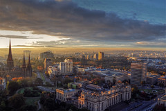 East Melbourne Panorama (Atilla2008) Tags: panorama mist beautiful fog sunrise wow melbourne victoria mcg mygearandmepremium mygearandmebronze mygearandmesilver mygearandmegold mygearandmeplatinum mygearandmediamond eastmelbournepanorama aboveandbeyondlevel1 aboveandbeyondlevel2
