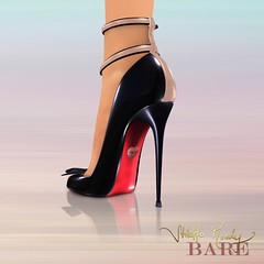 Stiletto Moody Bare Brigitte (Black-Nude) (Stiletto Moody) Tags: two leather shoe high women shoes shiny toes shine heart bare sm womens sl pump secondlife bow barefoot heels heel specular toned spectator maryjane brigitte sculpted peeptoe patent moodys anklestraps badseedred footinshoe stilettomoodyspring2010wildatheartcollection
