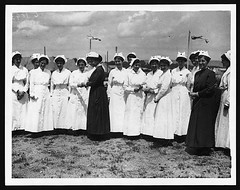 Few of the American nurses in France (National Library of Scotland) Tags: france war propaganda wwi great photojournalism worldwari worldwarone uniforms ww1 greatwar nurses firstworldwar thegreatwar 19141918 warphotography photographicprints capsheadgear nls:dodprojectid=74462370 organization:library=nationallibraryofscotland owner:name=nationallibraryofscotland nls:source=solrxml blackandwhiteprintsphotographs worldwar19141918campaignswesternfront nlsshelfmark nlsvoyagerid nls:dodid=74546848 nls:derivative=74301026