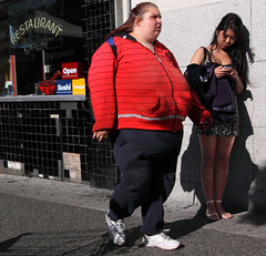 2 girls (professional recreationalist) Tags: ladies girls fashion women pretty fat makeup brucedean professionalrecreationalist fitness obesity vain fit epidemic