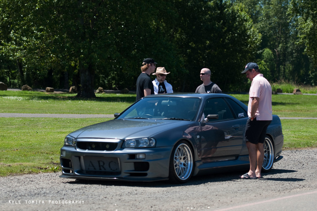 R34 Skyline at Rose Cup Races