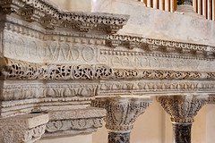 Kk Aya Sofya Camii, Colonnade Detail (Viajante) Tags: detail church architecture turkey istanbul mosque carving byzantine tr colonnade capitals greeklanguage