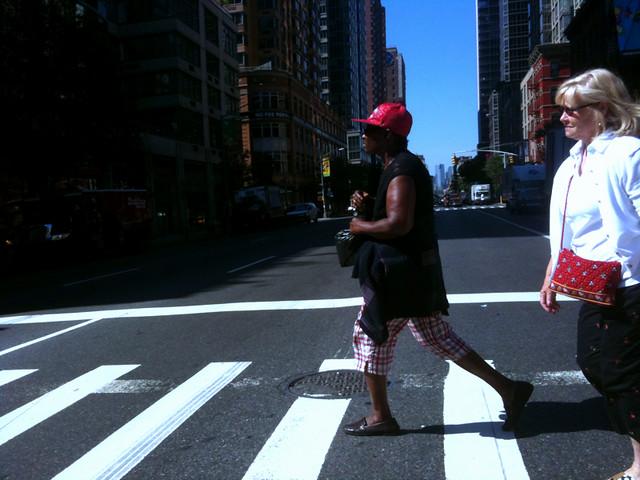 crossing the street #walkingtoworktoday