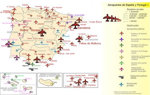Aeropuertos de Espaa y Portugal