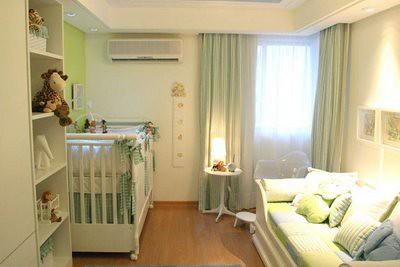 decoração do quarto de bebe cortinas