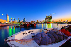Kuwait City @ night (A.alFoudry) Tags: city blue sea reflection building night canon eos fishermen mark full hour frame 5d kuwait fullframe ef kuwaiti q8 abdullah  mark2 1635mm   || kuw q80 q8city xnuzha alfoudry  abdullahalfoudry foudryphotocom mark|| 5d|| canoneos5d|| mk|| canoneos5dmark|| canonef1635mmf28l|| f28l||