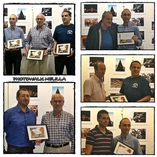 Entrega Diplomas a los socios de photowalk gandores de la I Liga Fotográfica