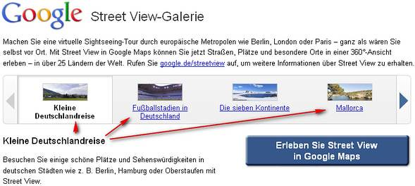 Foto von Google Street View Germany aus Mallorca