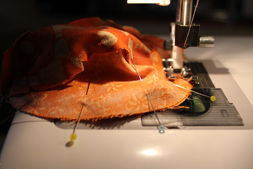 Sewing the pumpkin