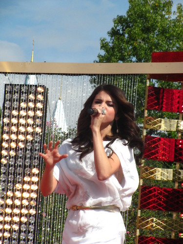 Selena Gomez performs in front