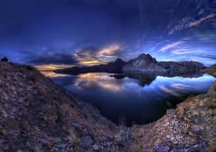 Boysen Lake Sunset HDR (dblrcktpnch) Tags: lake lakesunset hdrsunset panoramalake panoramahdr hrdlake hdrsunsetlake