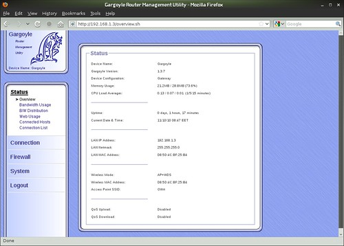 Vadim Plessky's Blog: Gargoyle Router - Status Overview