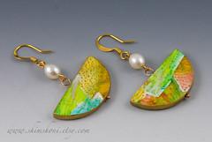 Gold Rainbow Earrings