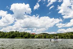 Tappan Lake (dwoods2160) Tags: lake tappanlake sky boat pontoon landscape