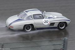 Mercedes 300SL Gullwing (aguswiss1) Tags: mercedes300slgullwing mercedes 300sl gullwing w198 racer racecar classiccar mercedesclassic spaclassic fastcar rain wet spafrancochamps supercar millioncar sportscar