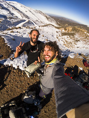 Con el niño Pereyra despues del desafio Andresito 2017 :D (martin9753) Tags: mountains montañas mendoza argentina vallecitos cerro andresito climb escalar nieve invierno snow winter