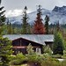 A Beautiful Mountain Backdrop for a Lodge in Sequoia National Park