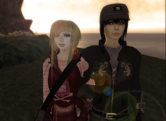 Him and Me, Me and Him (Beca Staheli) Tags: ocean life gay boy sunset sun cute sepia kiss couple pretty girly feminine avatar emo crossdressing jeans teen human jacket secondlife kawaii second yaoi trap effeminate androgynous bishonen prettyboy femboy femboi