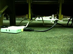講演者様席のささやかな電源 #webgakkai
