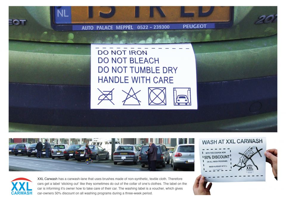 XXL_Car_Wash_Care_Labels