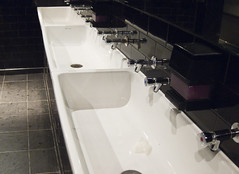 Out of Tune (mr_grituk) Tags: white black bar canon bathroom leeds toilet taps tiles faucet sinks s90