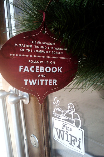 social media corporate christmas ornament