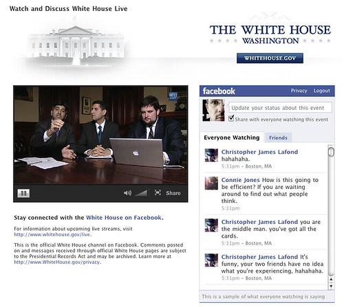 White House Live on Facebook