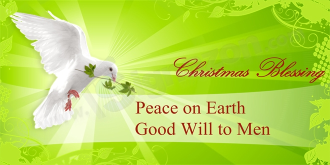 Peace and Good Will Christmas Banner