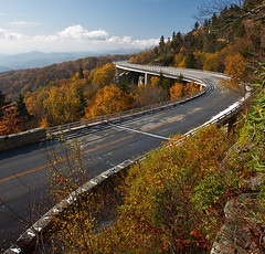 Linn Cove Viaduct, North Carolina (Harrier) Tags: road fall nc northcarolina viaduct foliage roadtonowhere linncoveviaduct iwishicouldgobackthere