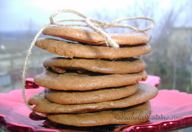 Condensed milk and chocolate biscuits