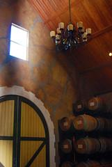 The Blue Victorian (trksr4grls) Tags: california brown white window nikon doors barrels tan winery cellar d60 suisunvalley thebluevictorian