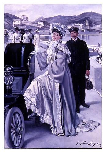 I.E.A. 22 SEPTIEMBRE 1903 - 2.º N.º XXXV. Pág. 181. ADIÓS A LA PLAYA- DIBUJO DE JUAN MARTÍNEZ ABADES