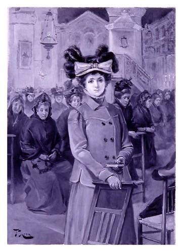 I.E.A. 30 OCTUBRE 1901-2.º N.º XL. Pág. 252. EN MISA-DIBUJO DE F. MOTA
