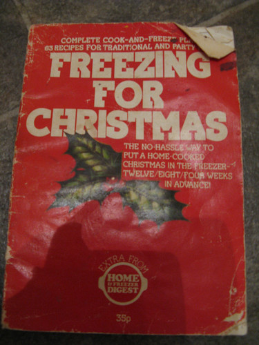 Christmas recipe book cover