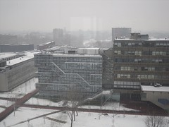 View from 10th Floor of Mekelweg 4, TU Delft (crwilliams) Tags: snow netherlands delft tudelft date:month=december date:day=17 date:year=2009 date:hour=13 date:wday=thursday