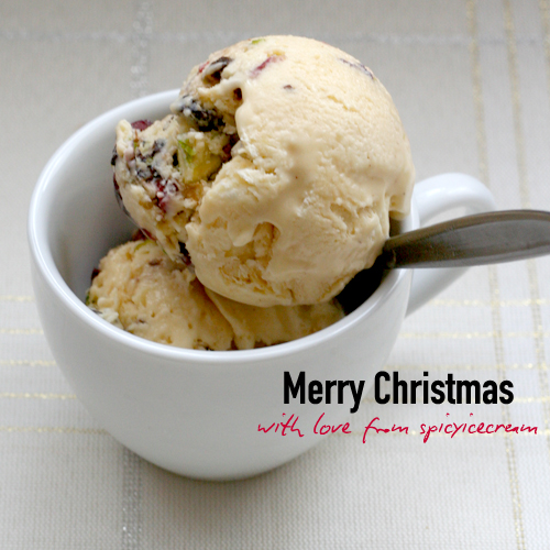 christmas pudding icecream