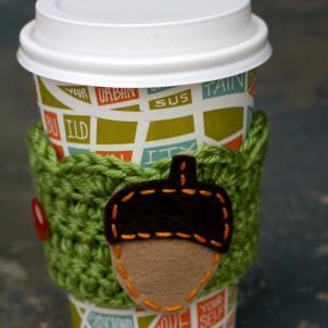 acorn coffee cuff