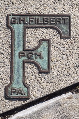 Sidewalk F (annburlingham) Tags: letter f sidewalk pavement green ghfilbert pgh pa diagonal pittsburgh thechallengefactory tcf winner texture
