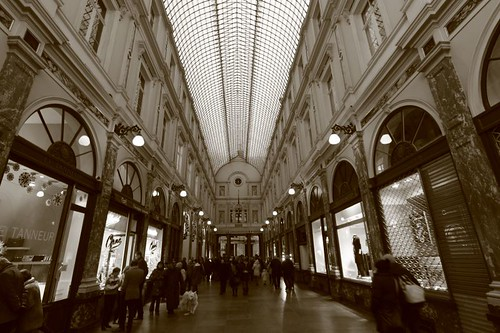 The beautiful Sint Hubertusgalerijen in Brussels...