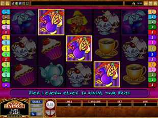 free Mad Hatters gamble bonus game