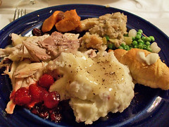 Christmas Dinner (mooshee85) Tags: thanksgiving christmas food holiday dinner turkey stuffing lunch mashed potatoes sauce yams gravy crescent delicious eat cranberry meal peas roll hungry