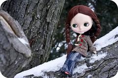Noelle in a tree