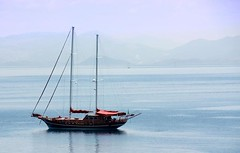 Kerkyra (TomekY) Tags: blue sea mountains boat corfu kerkyra