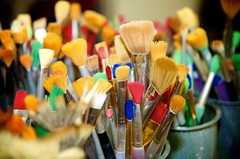 Cups of brushes (element56) Tags: colors paint vivid cups nikkor1755mmf28brushes