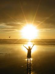 Behold, I give you a burst of sunshine (jimlittle2) Tags: sky sun beach star sunburst behold